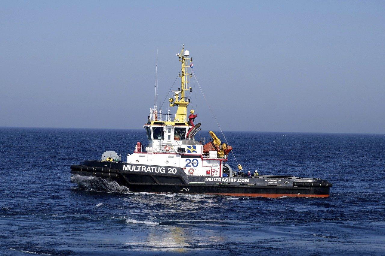 Tug boat offshore.
